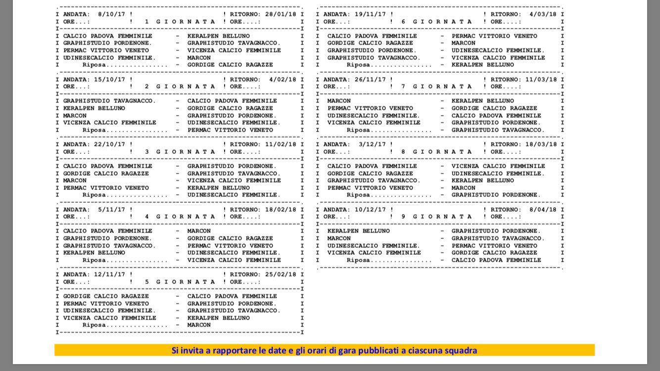 Campionato Primavera Calendario.Permac Vittorio Veneto Sito Ufficiale Primavera Il